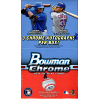 2016 Bowman Chrome Baseball Jumbo HTA Vending 12 Box Case (Sealed)(Hobby)