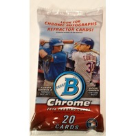 2016 Bowman Chrome Baseball Jumbo HTA Vending 20 Card Pack *Random*Sealed*Hobby*