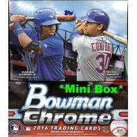 2016 Bowman Chrome Baseball Hobby MINI Box (Sealed)