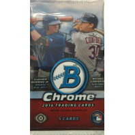 2016 Bowman Chrome Baseball Hobby 5 Card Pack (Sealed) (Random)