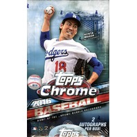 2016 Topps Chrome Baseball Hobby 12 Box Case (Sealed)
