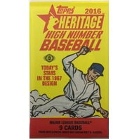 2016 Topps Heritage High Number Edition Baseball Hobby 9 Card Pack Sealed Random