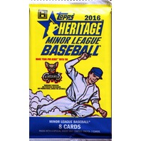 2016 Topps Heritage Minor League Edition Baseball Hobby 8 Card Pack (Sealed) (Random)