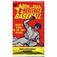 2016 Topps Heritage Baseball Hobby 9 Card Pack (Sealed) (Random)
