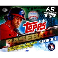2016 Topps Series 1 Baseball Jumbo HTA Hobby 10 Pack Box (Sealed)