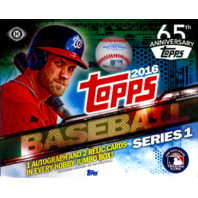 2016 Topps Series 1 Baseball Jumbo HTA 6 Box Hobby Case (Sealed)