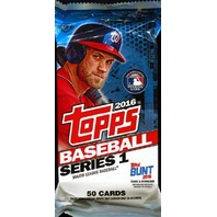 2016 Topps Series 1 Baseball Jumbo HTA Hobby 50 Card Pack (Sealed) (Random)