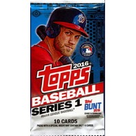 2016 Topps Series 1 Baseball Hobby 10 Card Pack (Sealed)