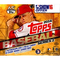 2016 Topps Series 2 Baseball HTA 10 Pack Jumbo Hobby Box (Sealed)