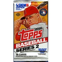 2016 Topps Series 2 Baseball 10 Card Hobby Pack (Sealed) (Random)