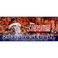 2016 Topps Stadium Club Baseball Hobby 16 Box Case (Sealed)