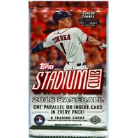 2016 Topps Stadium Club Baseball Hobby 8 Card Pack (Sealed) (Random)