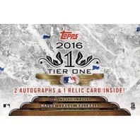 2016 Topps Tier One Baseball Hobby 3 Card Pack/Box (Sealed)