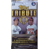 2016 Topps Tribute Baseball Hobby Pack (Sealed)