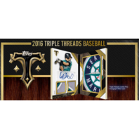 2016 Topps Triple Threads Baseball Hobby 18 Box Master Case (Sealed)