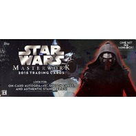 2016 Topps Star Wars Masterwork Trading Cards 8 Hobby Box Case (Sealed)