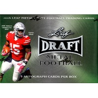 2016 Leaf Metal Draft Football Hobby Box (Sealed)