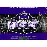 2016 Leaf Autographed Mini Helmet Football Hobby Box (Sealed)