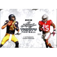 2016 Leaf Trinity Football Hobby Box (Sealed) PRODUCTION CUT 20% = MORE VALUE!