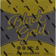 2016 Panini Black Gold Collegiate Football 2 Pack Sealed Hobby Box College/NCAA