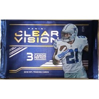 2016 Panini Clear Vision Football Hobby 3 Card Pack (Factory Sealed)