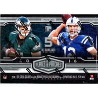 2016 Panini Plates & Patches Football 12 Hobby Box Case (Sealed)