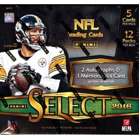 2016 Panini Select Football 12 Hobby Box Case (Sealed)