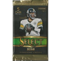 2016 Panini Select Football Hobby 5 Card Pack (Factory Sealed)(Random)