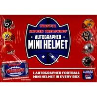 2016 Tristar Hidden Treasures Football Autographed Mini Helmet Box (Sealed)