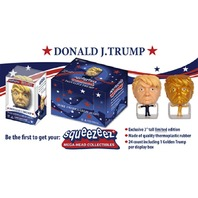 Donald Trump SqueezeEz Mega Head Collectible Ball Box of 24 w/ 1 Rare Gold Trump
