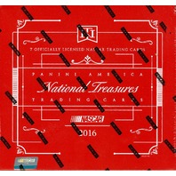 2016 Panini National Treasures NT Auto Racing 7 Card Sealed Hobby Box NASCAR