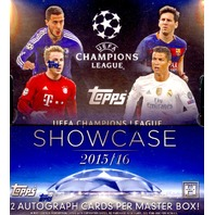 2016 Topps UEFA Champions League Showcase Soccer 8 Hobby Box Case (Sealed)