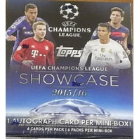 2016 Topps UEFA Champions League Showcase Soccer Hobby Sealed Mini-Box (6 Packs)