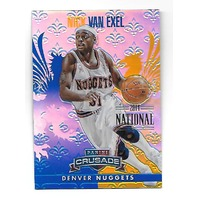 NICK VAN EXEL 2013-14 Panini Crusade Blue Refracor /5 Denver Nuggets