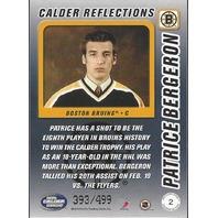 Patrice Bergeron Boston Bruins 2004 Calder Hockey Reflections /499