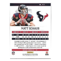 MATT SCHAUB 2013 Rookies and Stars Team Logo Black 1/1 Houston Texans