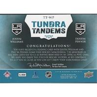 Justin Williams Dustin Penner  2013-14 UD Artifacts Tundra Tandems LA Kings