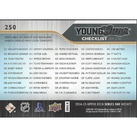 Reinhart Ekblad Draisaitl 2014-15 UD Series One Young Guns Checklist #250