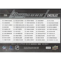 Connor McDavid Sam Bennett 2015-16 UD Series One Young Guns Checklist #250