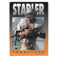 KEN STABLER 1995 Tombstone Pizza Classic QB Series auto /985 Oakland Raiders