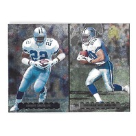 EMMITT SMITH/SHERMAN WILLIAMS 1996 Upper Deck Silver Helmet #NE5 Dallas Cowboys
