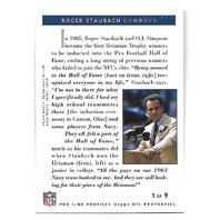 ROGER STAUBACH 1992 NFL Pro line Profiles auto #1 Dallas Cowboys autograph