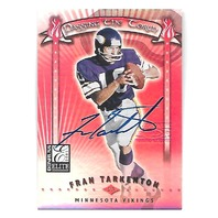 FRAN TARKENTON 2001 Donruss Elite Passing the Torch auto /100 Minnesota Vikings