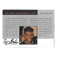DEION SANDERS 1992 NFL Proline Portraits auto Atlanta Falcons autograph