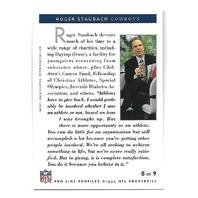 ROGER STAUBACH 1992 NFL Pro line Profiles auto #8 Dallas Cowboys autograph