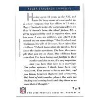 ROGER STAUBACH 1992 NFL Pro line Profiles auto #7 Dallas Cowboys autograph