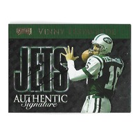 VINNY TESTAVERDE 1999 Playoff Prestige SSD Checklists auto /250 New York Jets