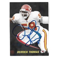 DERRICK THOMAS 1998 Collector's Edge Odyssey Prodigies on card auto #32