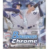 2017 Bowman Chrome Baseball Hobby Master Box (2 Mini-Boxes/6 Packs)