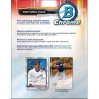 2017 Bowman Chrome Baseball Hobby 12 Master Box Case (Sealed)